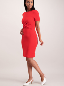 Red Knot Front Dress