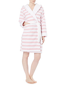 Pink Mix Stripe Robe