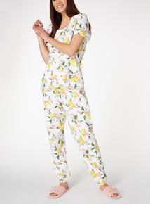 Lemon Print Pyjama Set