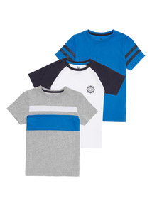 Multicoloured Striped Tees 3 Pack (3 - 12 years)