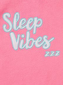 Pink 'Sleep Vibes' Slogan Jumper (3-12 years)