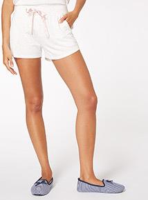 Cream Lurex Fleck Short