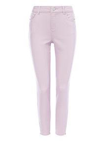 Lilac Twill Skinny Jeans