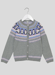 Grey Penguin Cardigan (9 Months - 6 Years)
