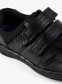 Online Exclusive Black Wide Fit School Shoes (Infant 8-6)