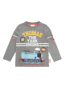 Grey Thomas the Tank Engine Long Sleeve Tee (9 months - 6 years)