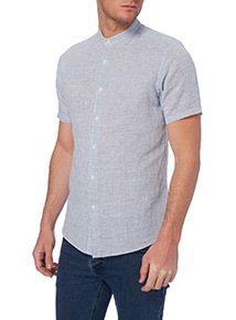 Light Blue Linen Chambray Shirt