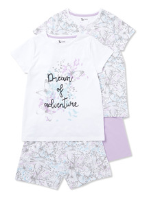 2 Pack Multicoloured Butterfly Pyjama Sets (2-10 years)
