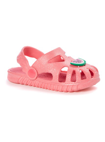Pink Caged Watermelon Clogs