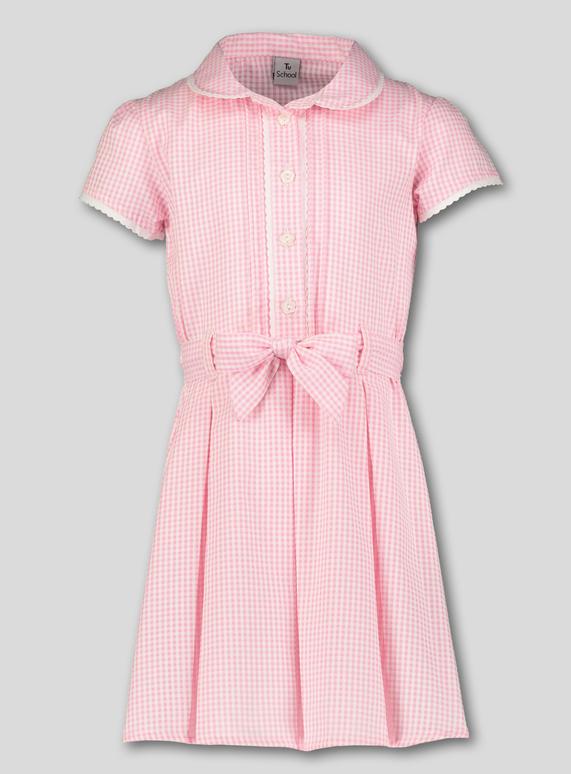 7e1f57bdd Kids Pink Gingham Classic School Dress