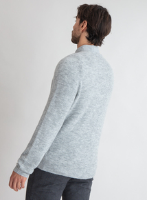Premium Grey Rib Crew Neck Jumper