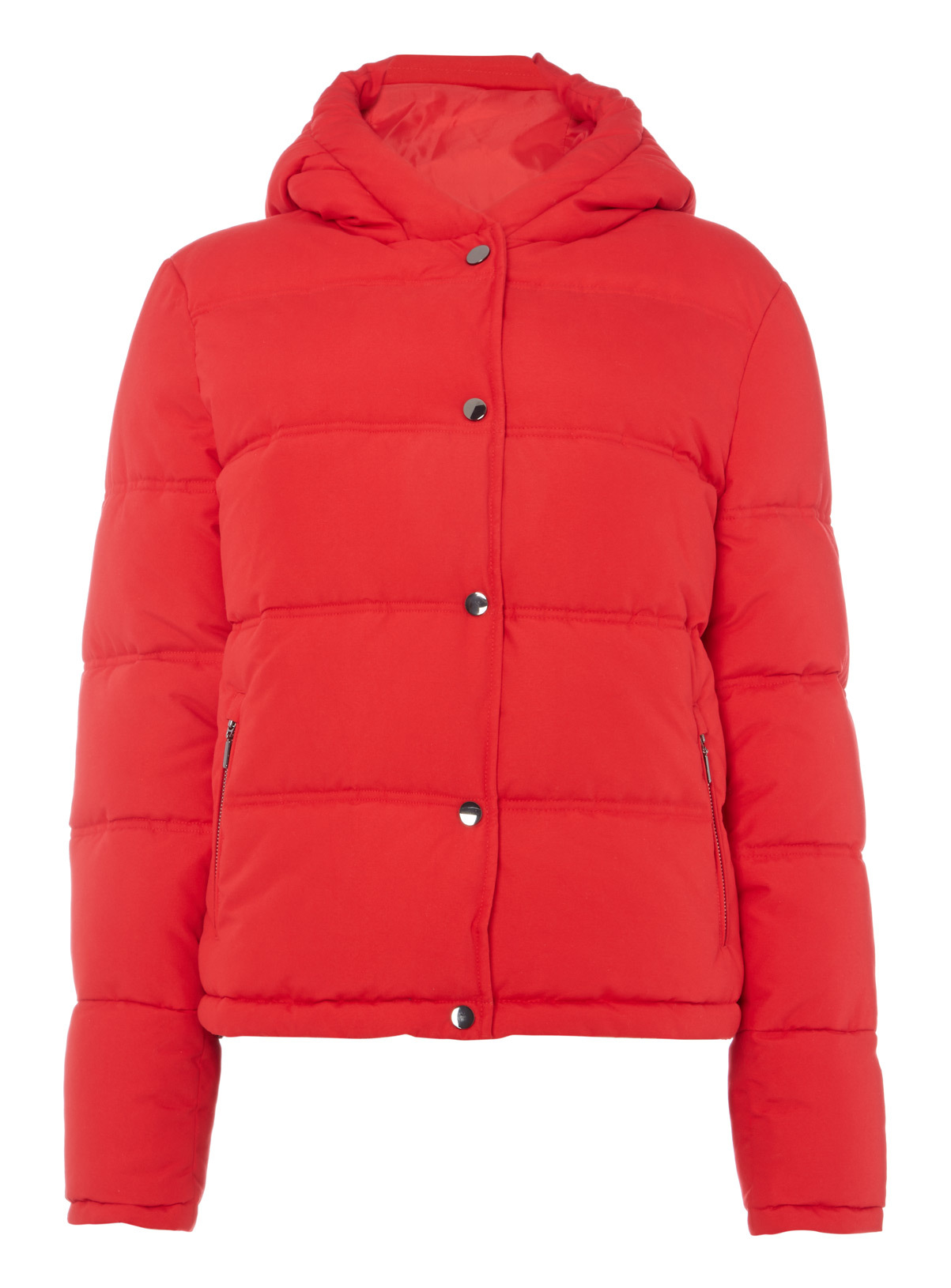 Red Cropped Padded Jacket
