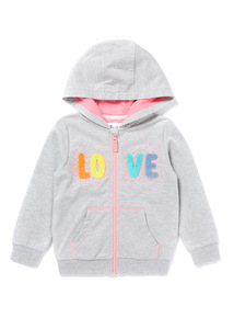 Multicoloured Love Zip Through Hoody (9 months-6 years)