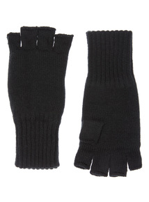 Black Heat Holder Fingerless Glove