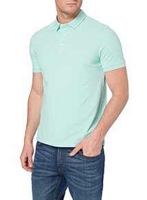 Online Exclusive Green Plain Piqué Polo