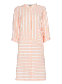 Coral Striped Nightshirt