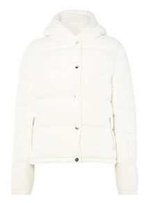 Ivory Cropped Padded Jacket