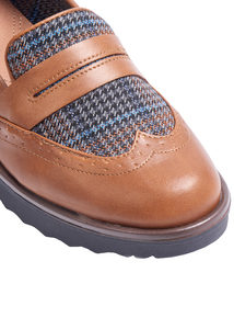 Sole Comfort Tan Check Loafer