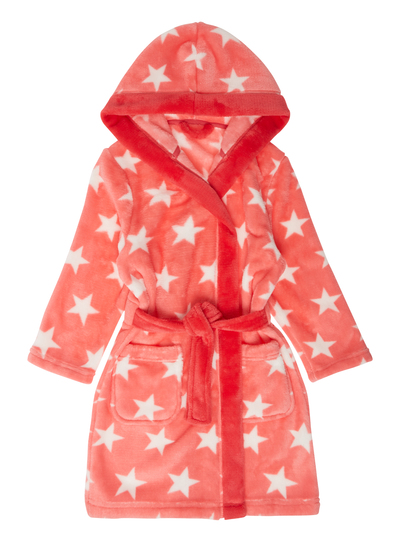 Kids Girls Pink Star Dressing Gown (2-12 years) | Tu clothing