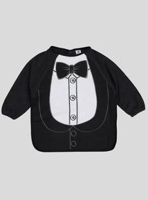 Black Long Sleeve Tuxedo Bib (One Size)