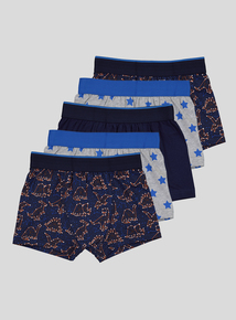 Multicoloured Dino Constellation Trunks 5 Pack  (2-12 years)