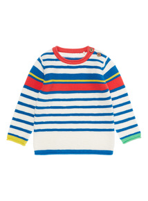 Boys Striped Knitted Jumper (0 - 24 months)