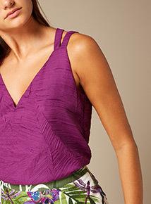 Premium Textured Leaf Pattern Camisole Top