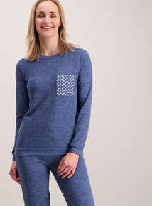 Blue Spot Pocket Pyjama Set