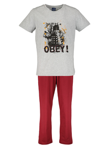 BBC Doctor Who Grey & Red Dalek Pyjamas