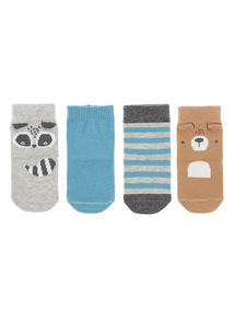 4 Pack Mountain Explore Socks (1-24 months)