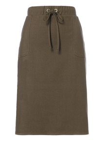 Green Drawstring Skirt