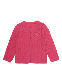 Pink Pointelle Cardigan (0 - 24 months)