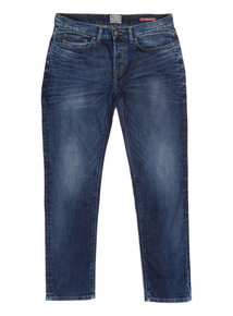 Mid Wash Stretch Denim Jeans