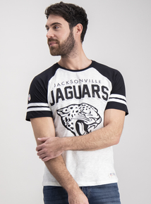 NFL Jaguars White Raglan Short Sleeve T-Shirt