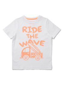 White Ride The Wave T-Shirt (9 months-6 years)
