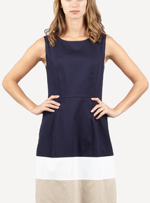 IZABEL Navy Shift Dress