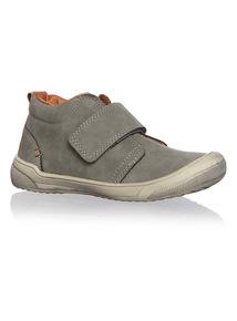 Boys Grey Suede Velcro Shoe