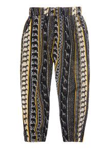 Black Hareem Trousers (3 - 12 years)