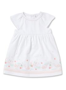White Whale Trim Dress (Newborn - 12 months)