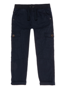 Boys Navy Cargo Trousers (9 months-6 years)
