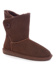Brown Suede Borg Boot