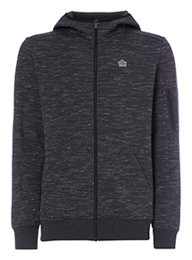 Admiral Charcoal Zip Through Sweatshirt