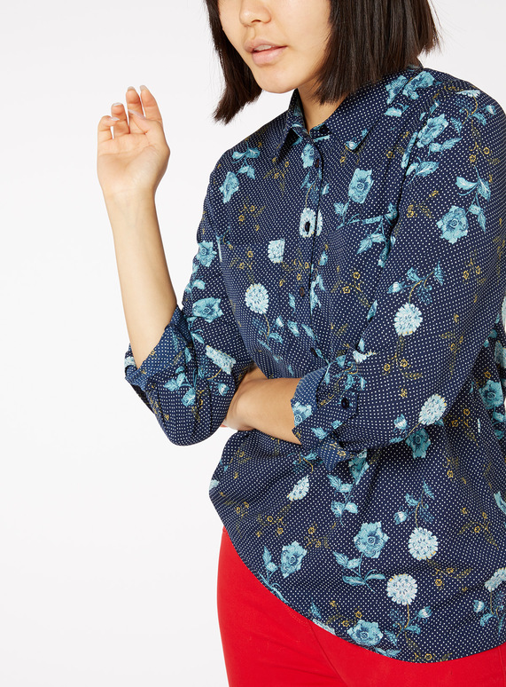 03a8e4c19ba0d Womens Online Exclusive Multicoloured Floral and Polka Blouse