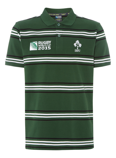 Mens Green Ireland Rugby Polo Shirt Tu Clothing