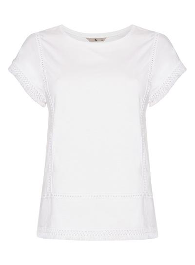 White Tassel Hem T-Shirt