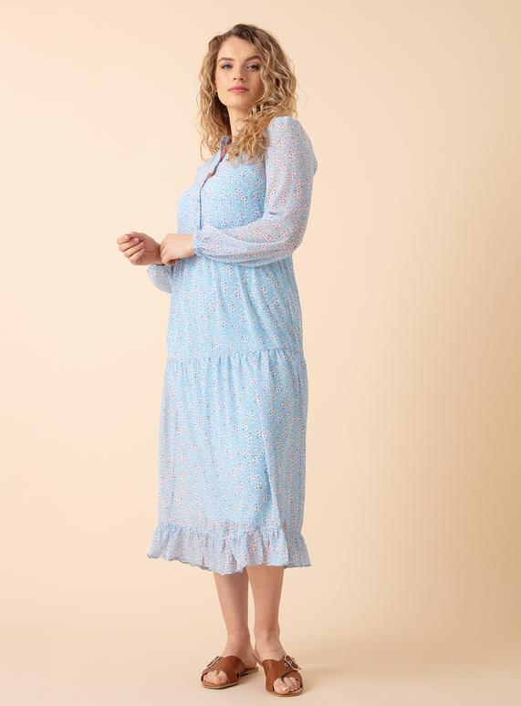 vila dress blue