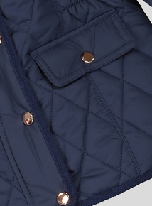 Navy Quilted Jacket (3-14 years)