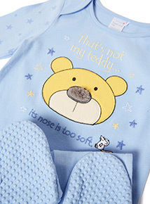 Blue Thats Not My Teddy Sleepsuit (Newborn-24 months)