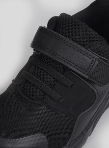 Black One-Touch Strap Trainers