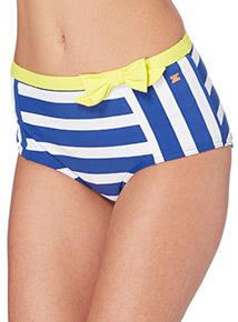 k Striped High Waist Control Bikini Briefs